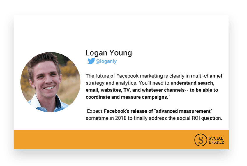 Are you wondering what 2018 might look like for Facebook marketing? Logan Young - the future of Facebook marketing