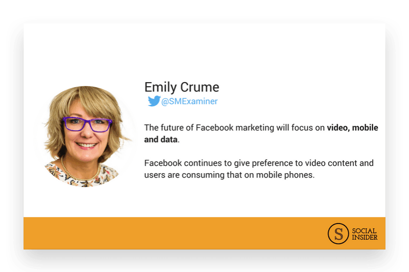 Are you wondering what 2018 might look like for Facebook marketing? Emily Crume - the future of Facebook marketing