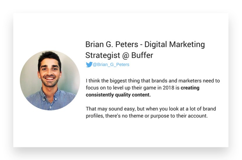 Brian Peters from Buffer about Instagram marketing