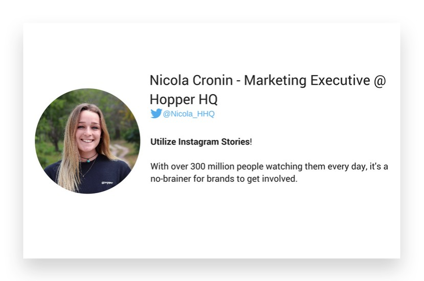 Nicola Cronin from HopperHq about Instagram marketing