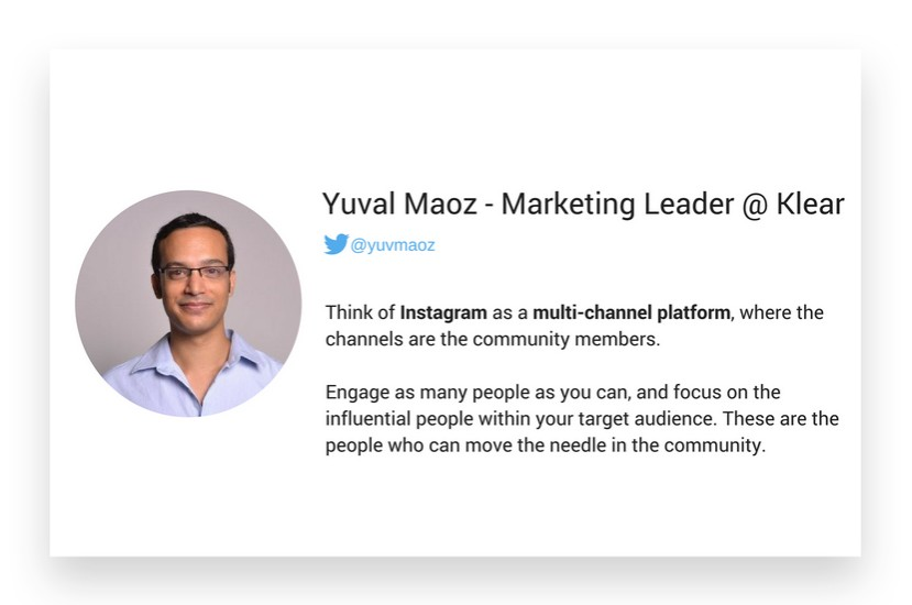 Yuva Maoz from Klear about Instagram marketing