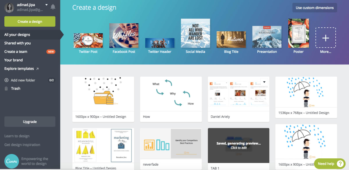 Canva - your personal designer