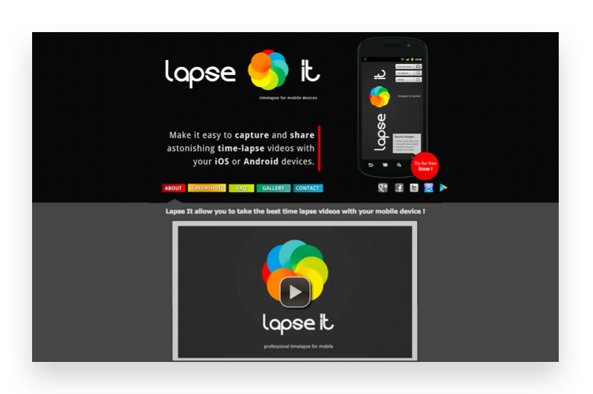 Create time-lapse videos with Lapse it