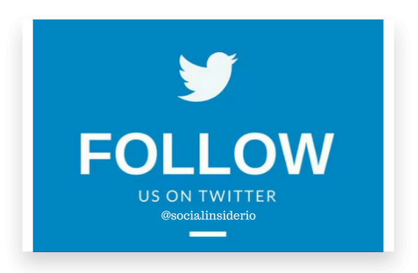 Follow @socialinsiderio on Twitter