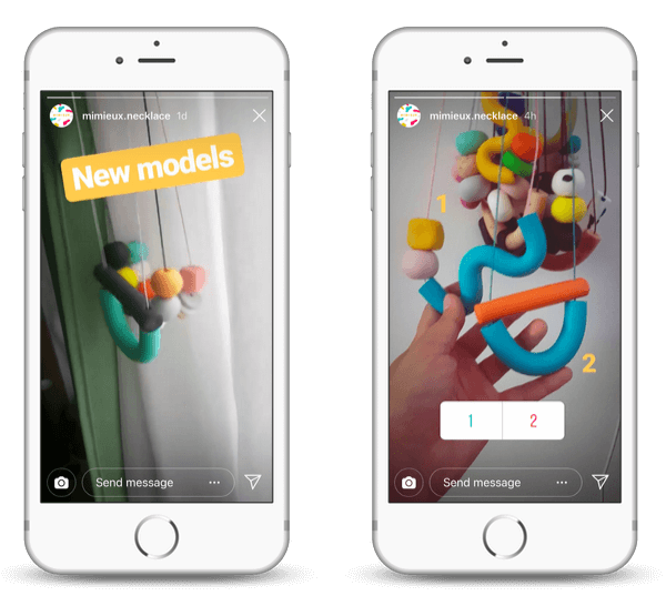 Instagram polls and emoji for businesses