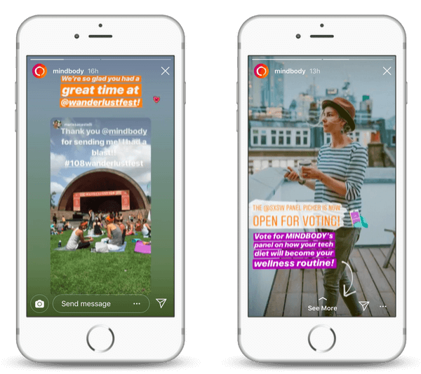 How brands are using the Instagram Stories features