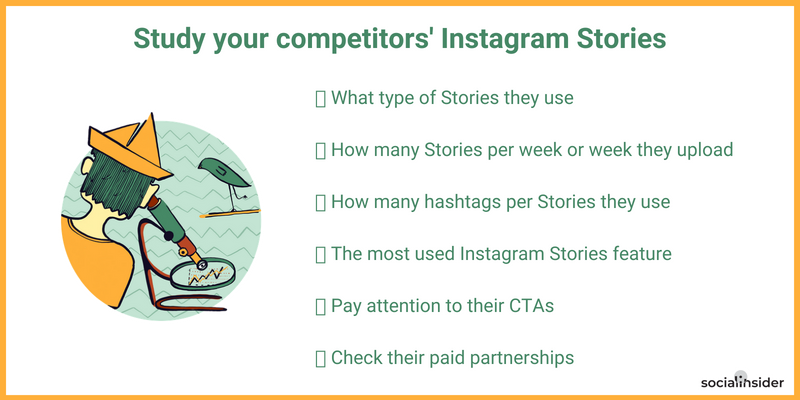 Study your competitors' Instagram Stories