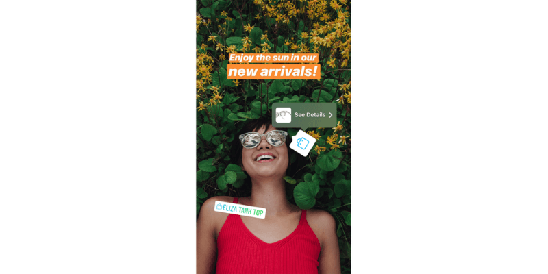 Instagram shoppable stickers