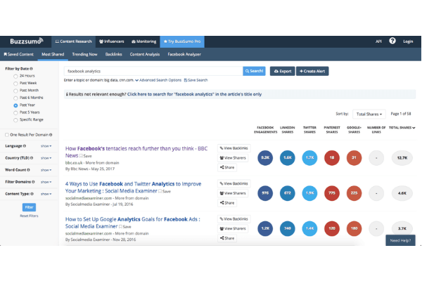 Buzzsumo - digital tools for agencies and marketers