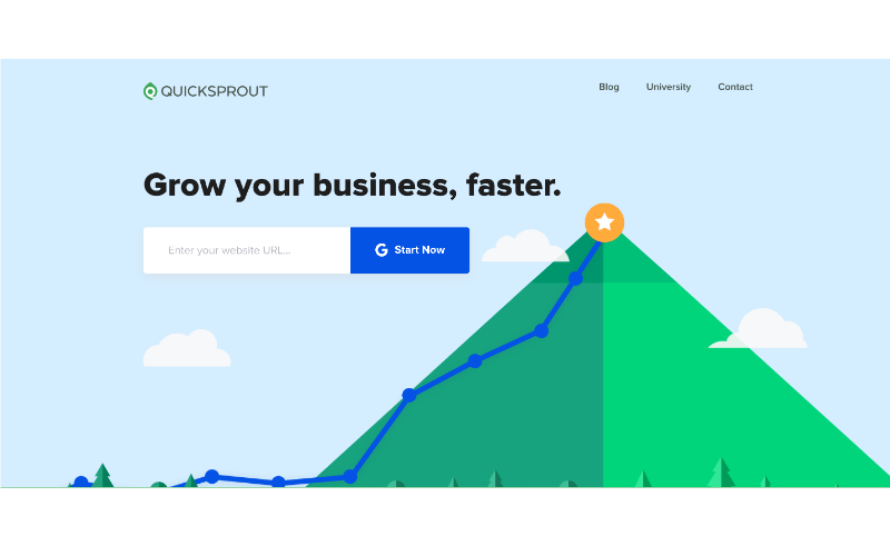 QuickSprout page