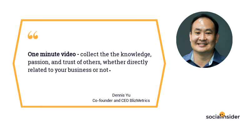Dennis Yu believes that 'One minute video' will be one of the primary digital marketing trend in 2019.