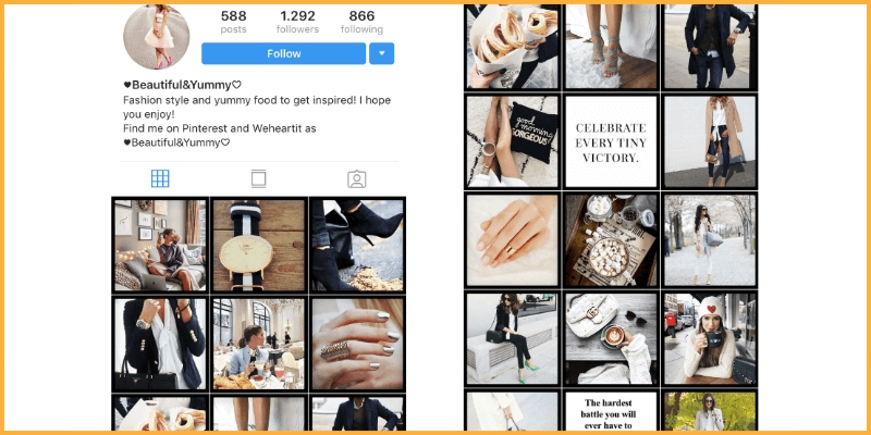 The importance of the Instagram theme