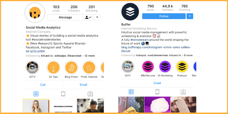 Add branded hashtags in your Instagram bio