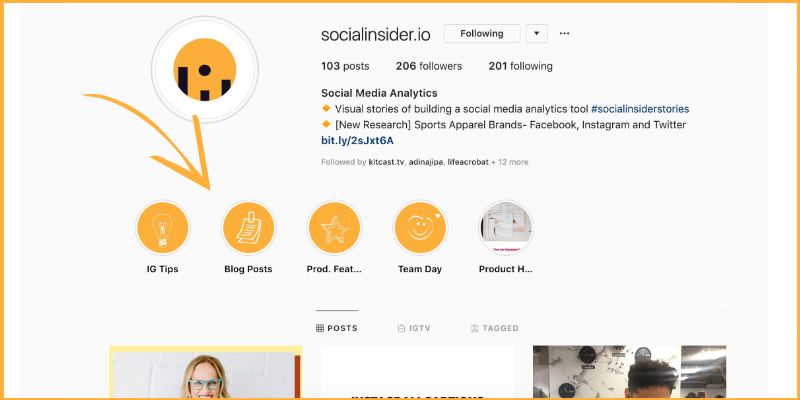 Socialinsider Stories highlights