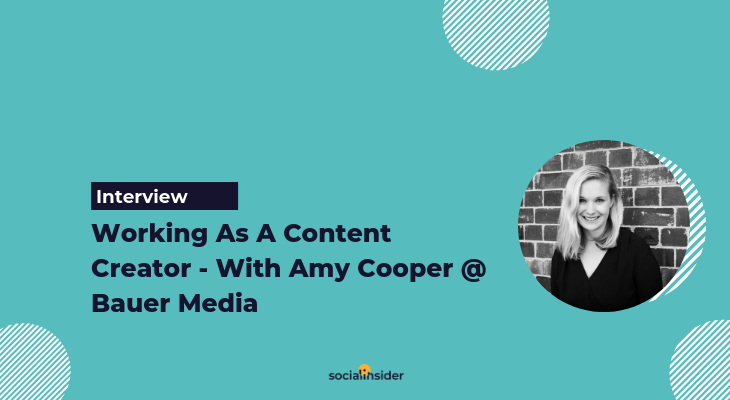 How to become a content creator - with Amy Cooper