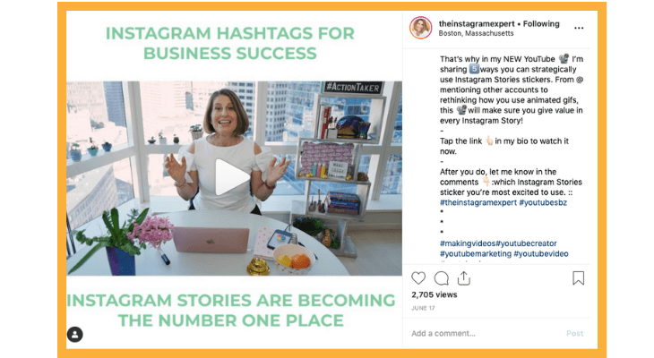 Here's how Sue B. Zimmerman engages with her audience on Instagram