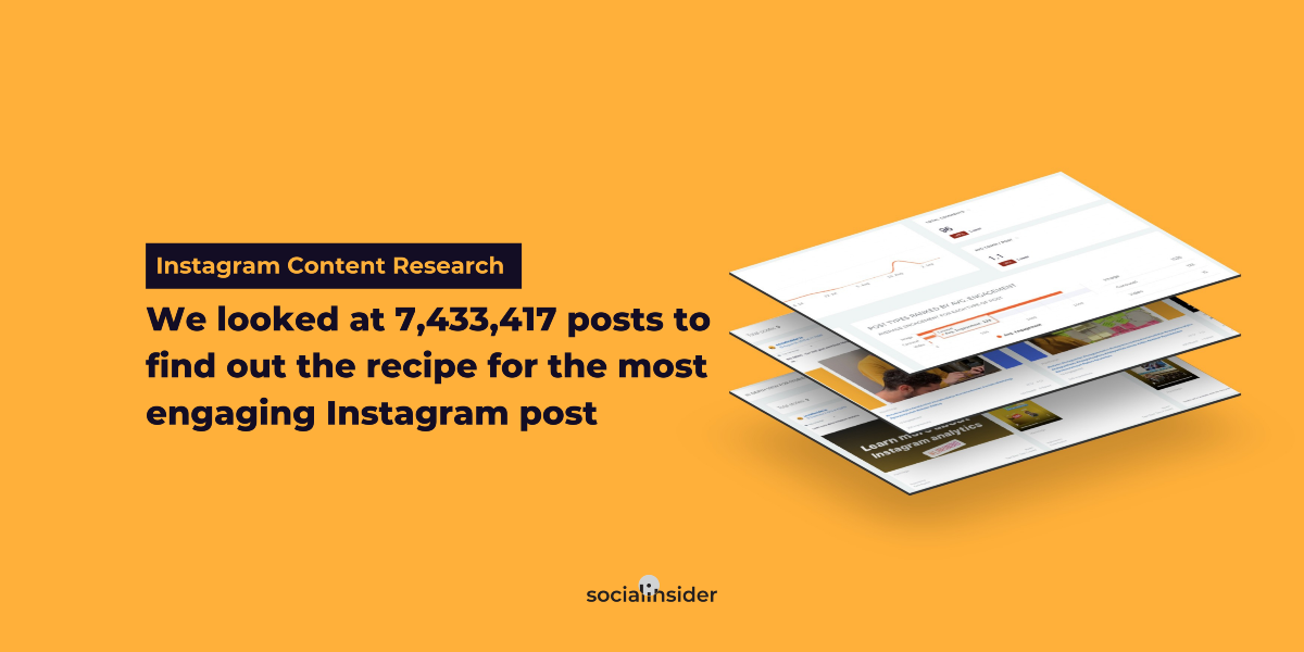 [Instagram Content & Engagement Study]: We looked at 7,433,417 posts to find out the recipe for the most engaging Instagram post