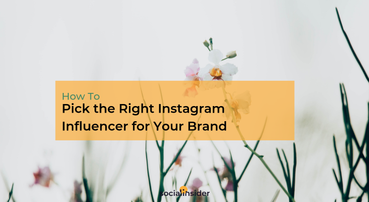 Picking your Instagram influencers