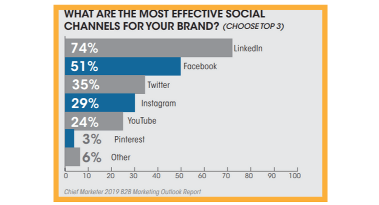 LinkedIn is one of the most effective social media channel used by B2B marketers