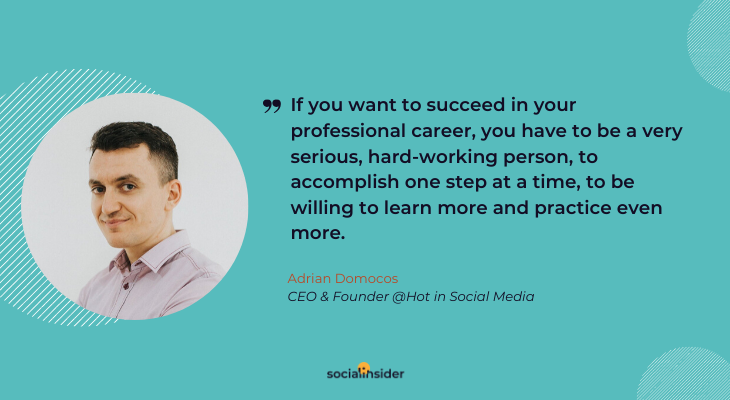If you want to succeed in your professional career, you have to be a very serious person