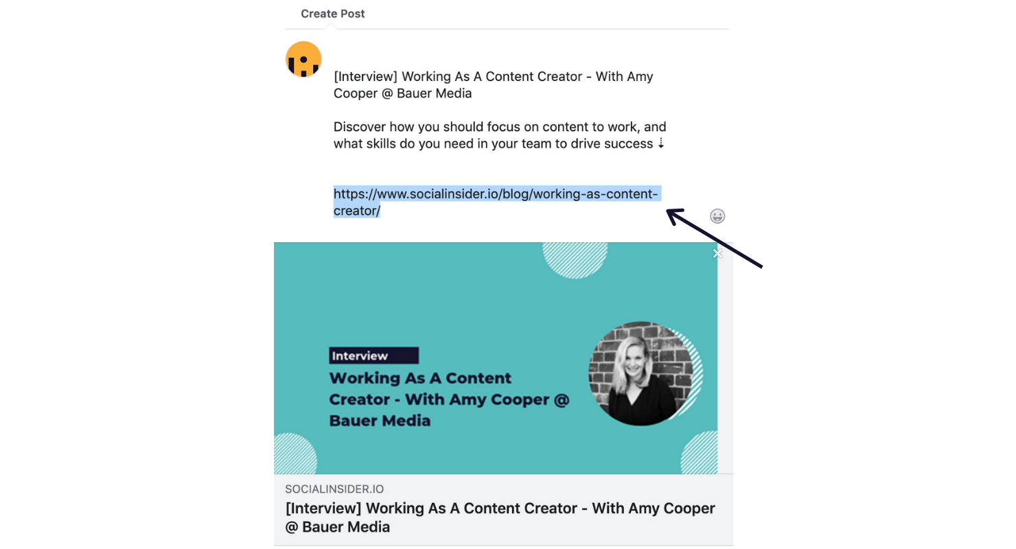 Eliminar la URL de la publicación