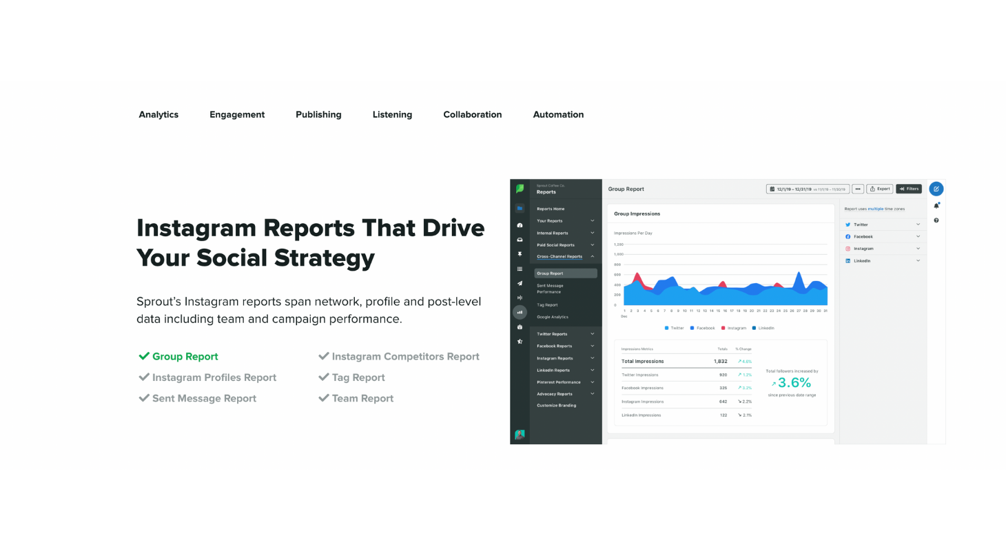 Track your performance on Instagram with Sprout Social
