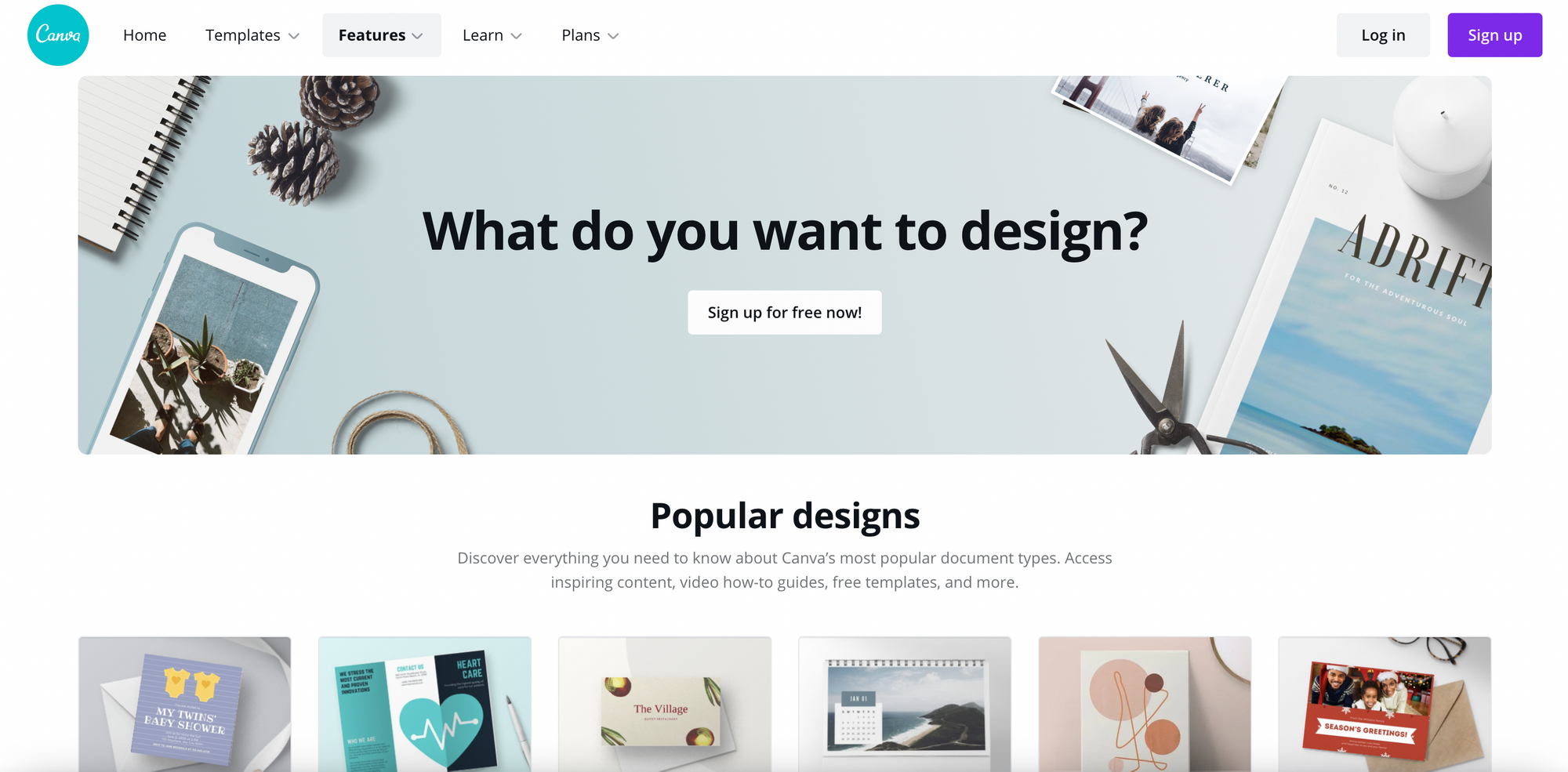 Here are some examples of Canva's popular designs.