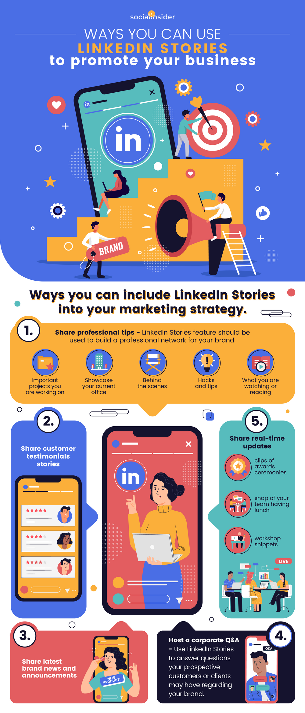 LinkedIn Stories: How to Promote Your Business for Free [Infographic]