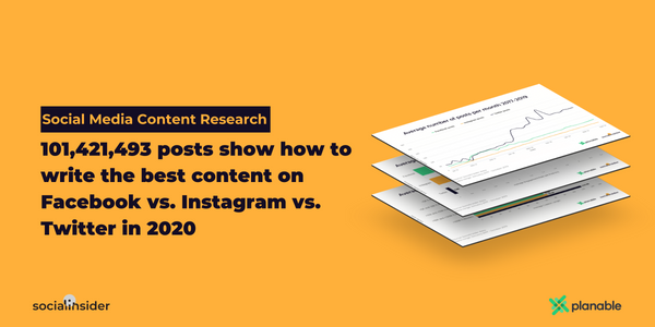 [Social Media Content Study]: 101,421,493 Posts Show How To Write The Best Content On Facebook vs. Instagram vs. Twitter In 2020